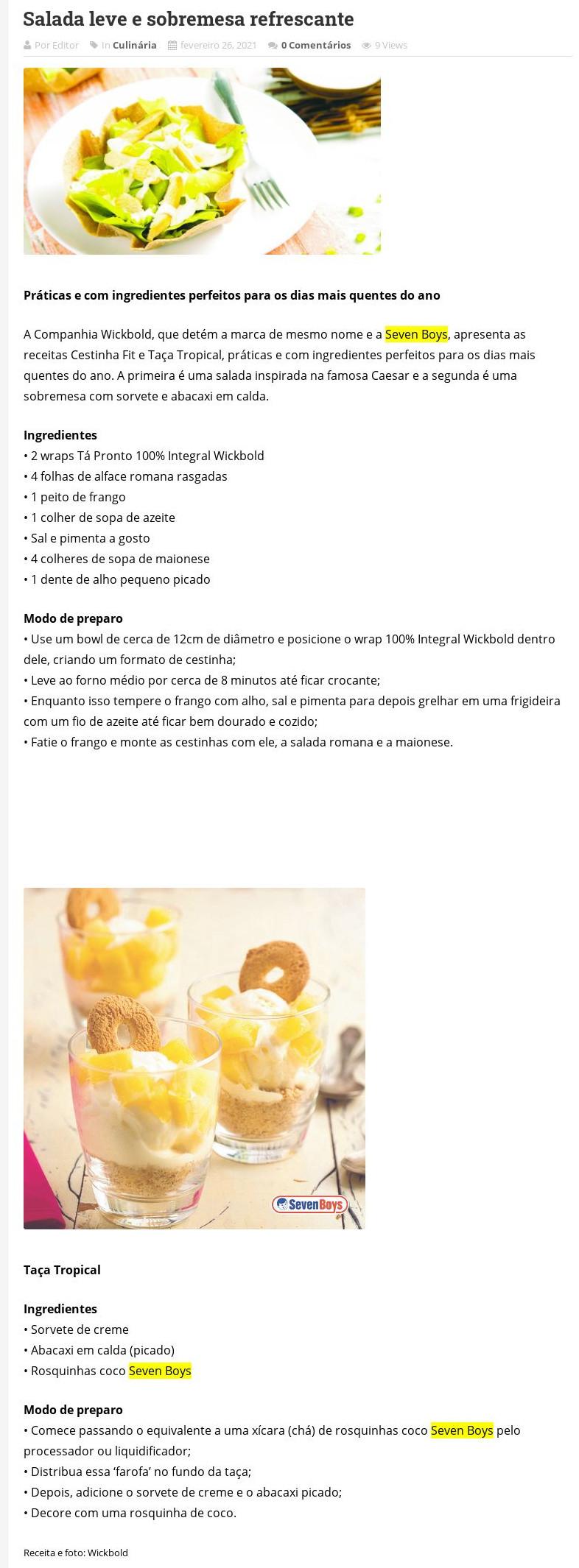 Salada leve e sobremesa refrescante - Jornal Nova Metropolí