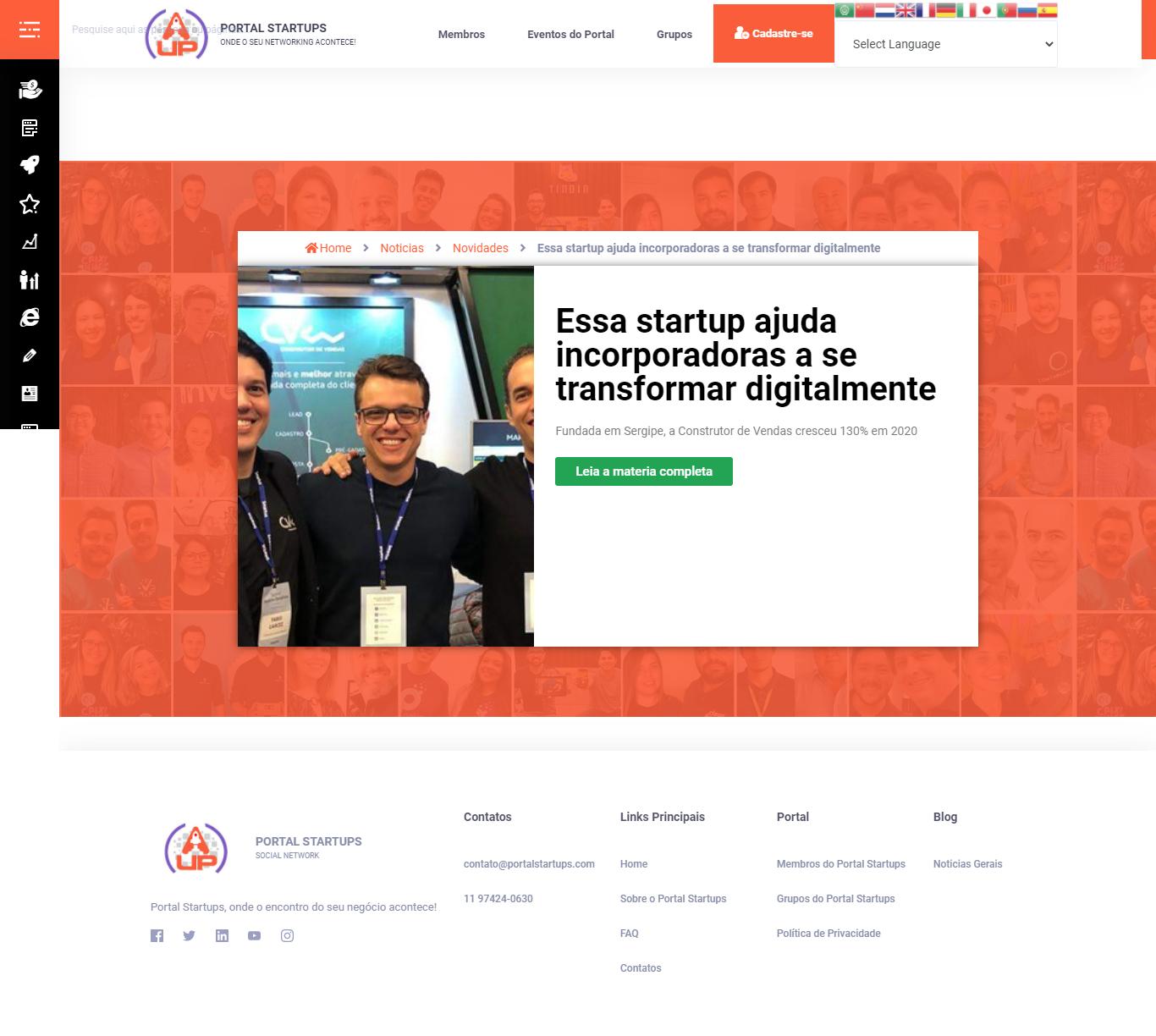 Essa startup ajuda incorporadoras a se transformar digitalmente - Portal das Startups