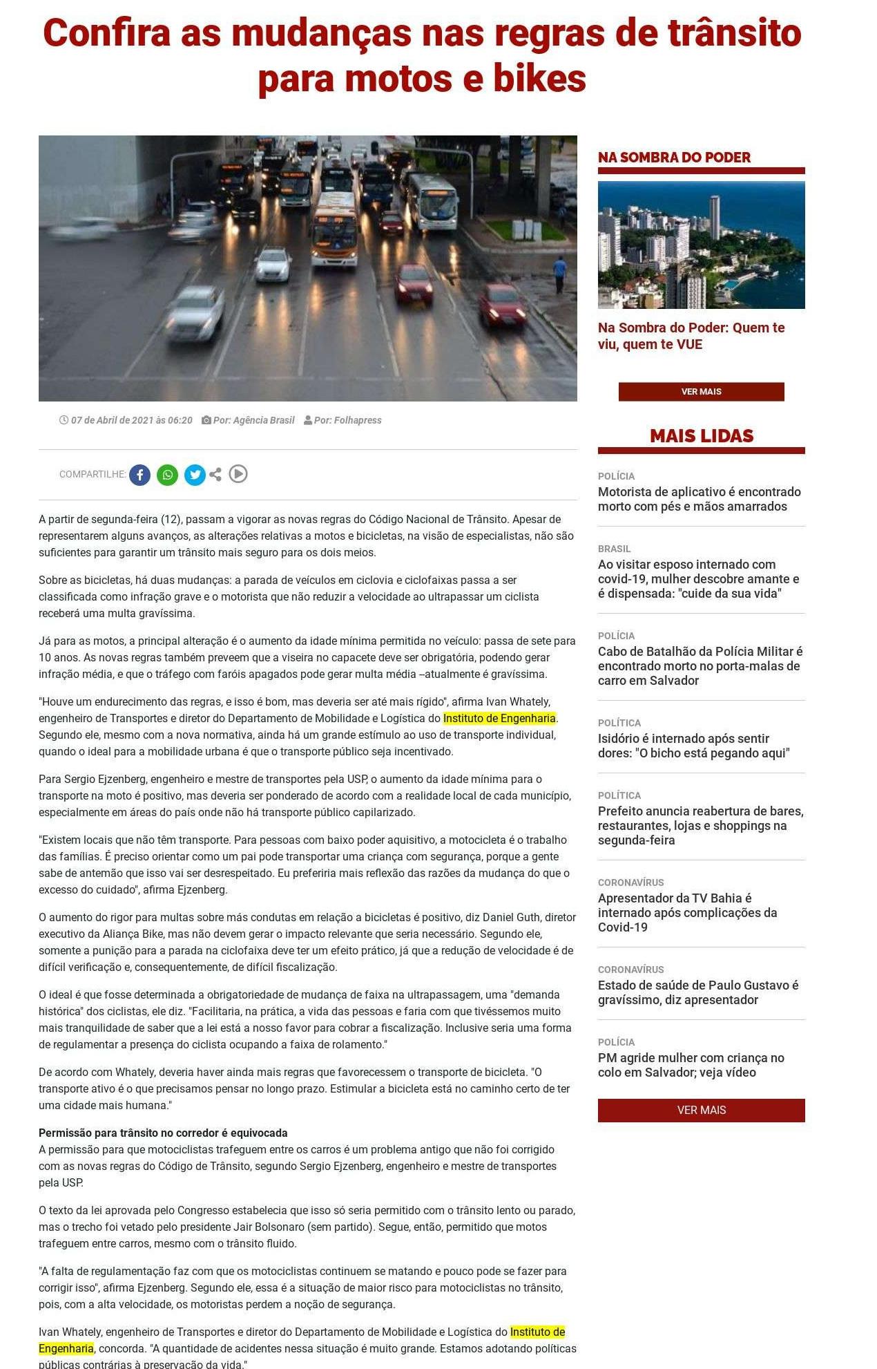 Confira as mudanças nas regras de trânsito para motos e bikes - BNews