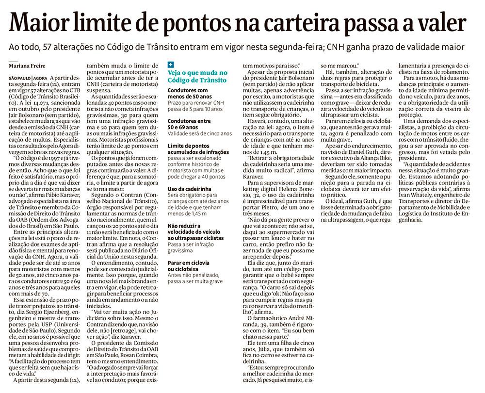 Maior limites de pontos na carteira passa a valer - Folha de S.Paulo