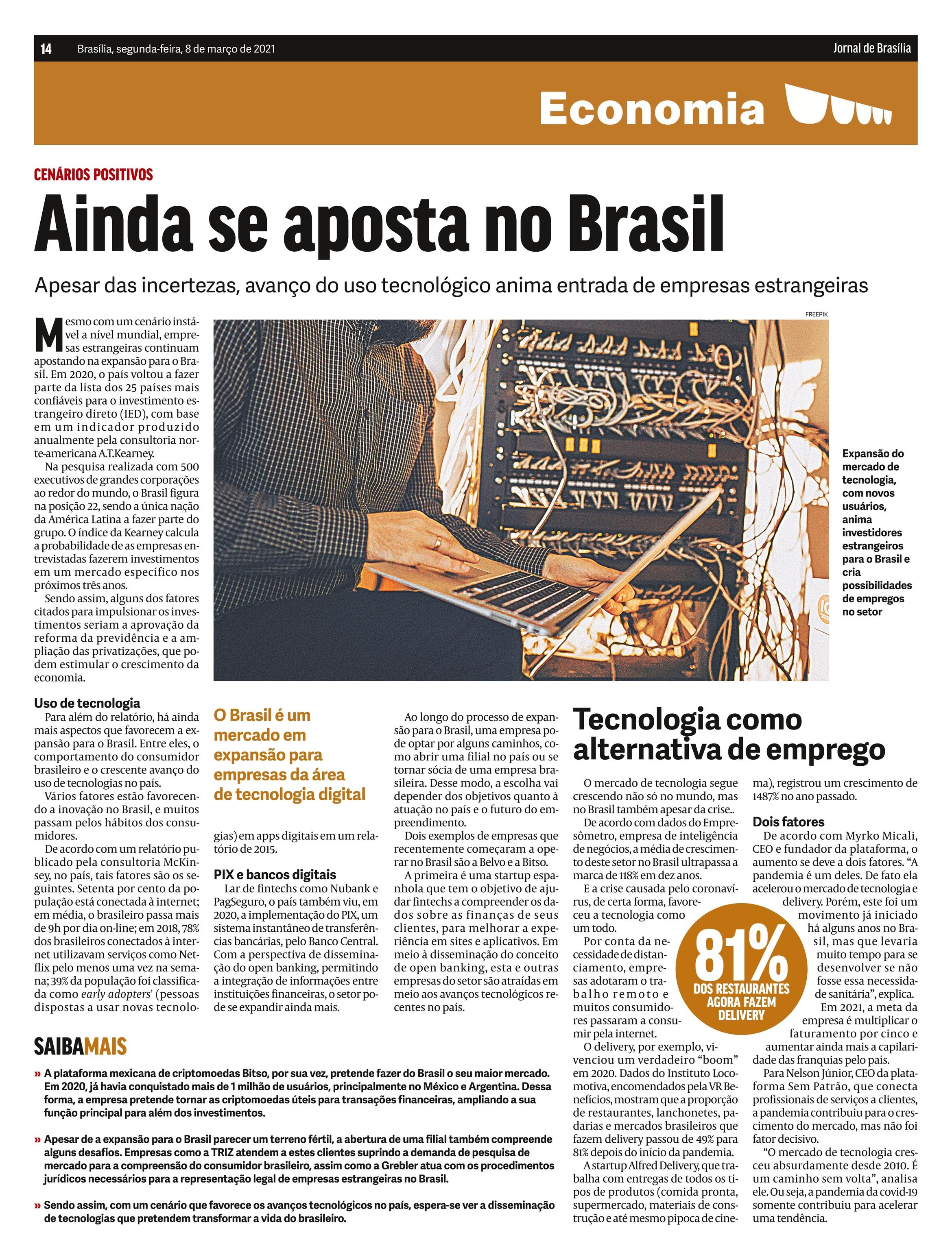 Tecnologia como alternativa de emprego - Jornal de Brasília