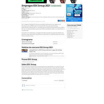 Empregos EDC Group 2021 – JR Concursos