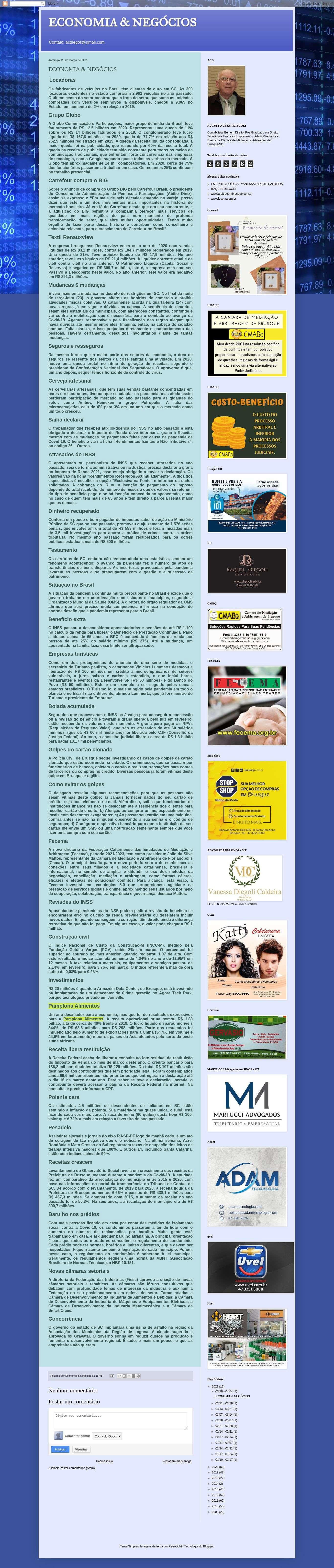 Pamplona Alimentos-Economia e Negócios