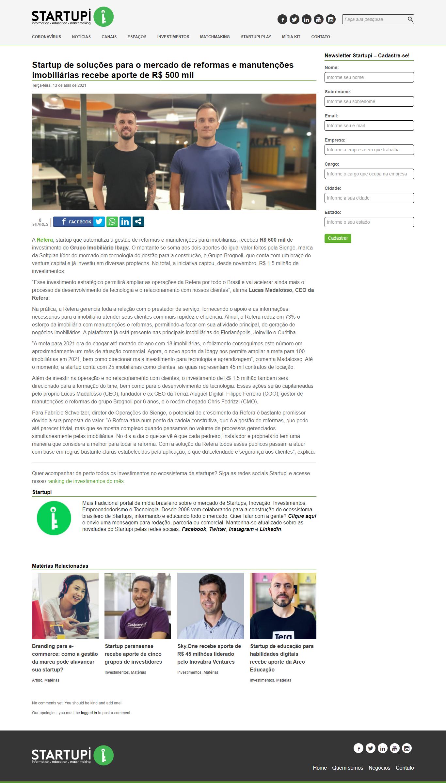 Startup de soluções para o mercado de reformas e manutenções imobiliárias recebe aporte de R$ 500 mil - Startupi