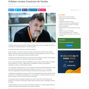 Softplan compra Construtor de Vendas – Baguete