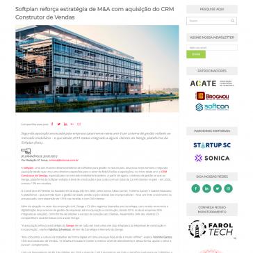 Softplan reforça estratégia de M&A com aquisição do CRM Construtor de Vendas – Scinova