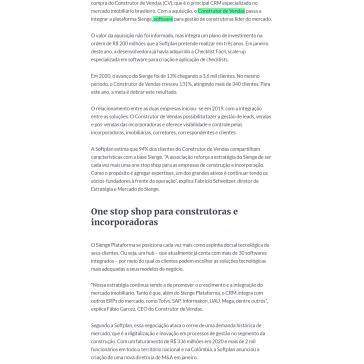 Comprado pela Softplan, construtor de vendas passa a interagir o Sienge Plataforma – Imobi Report