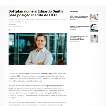 Softplan nomeia Eduardo Smith para posição inédita de CEO – It Fórum