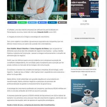 Softplan contrata CEO para acelerar estratégia de crescimento e consolidar governança – Noticenter