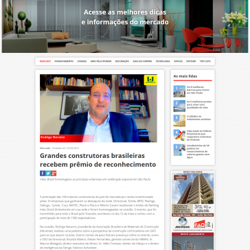 Grandes construtoras brasileiras recebem prêmio de reconhecimento – Revista Qual Imóvel