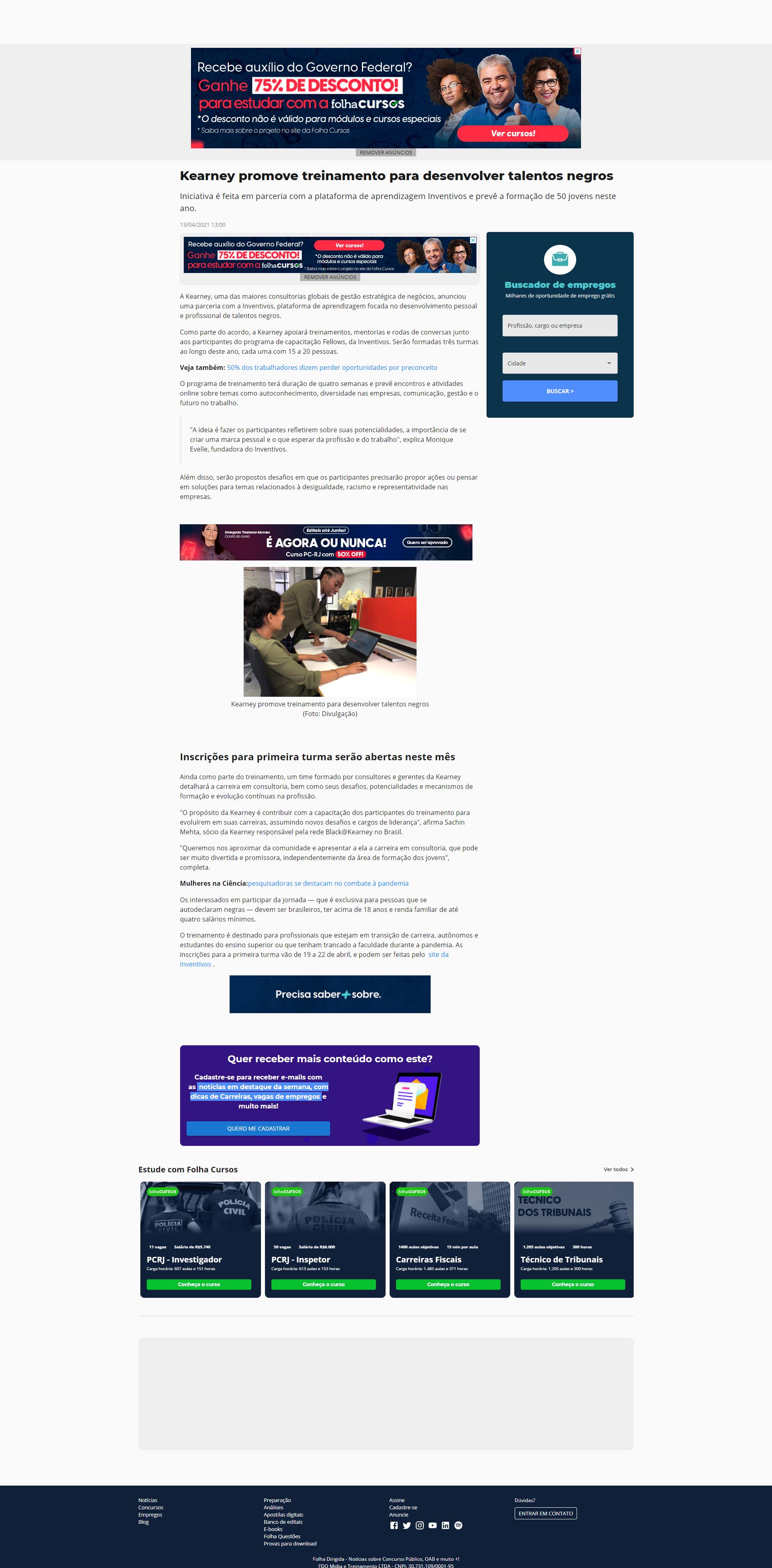 Kearney promove treinamento para desenvolver talentos negros - Folha Dirigida Online