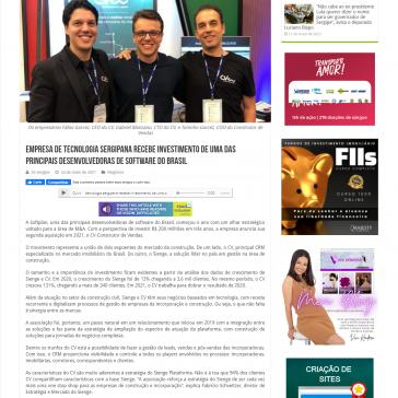 Empresa de tecnologia sergipana recebe investimento de uma das principais desenvolvedoras de software do Brasil – Só Sergipe