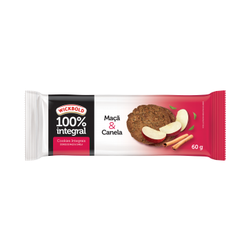 Wickbold lança cookies 100% integrais de maçã e canela