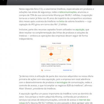 Intelbras compra 75% da Khomp por R$ 89,1 milhões – Olhar Digital