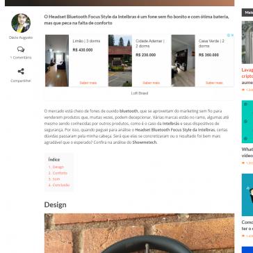 REVIEW: Headset Bluetooth Focus Style da Intelbras é um bom fone acessível – Showmetech