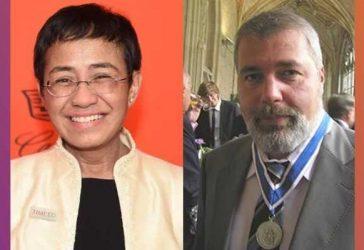 Nobel da Paz homenageia o jornalismo e o papel essencial da imprensa